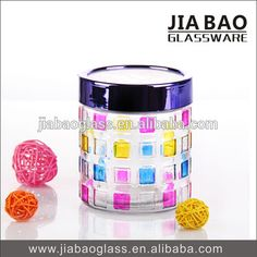 Multi Color Glass Manson Jar for Honey, Wax, Food, candy