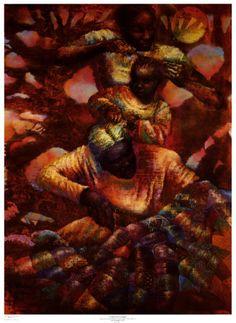 AFRICAN AMERICAN ART PRINT Turn It Up Paul Goodnight