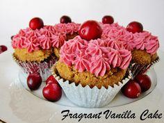 Raw Cranberry Orange Spice Cupcakes from Fragrant Vanilla Cake