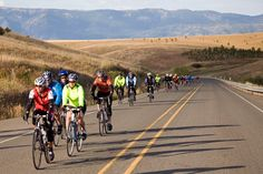 Cycle Oregon, 2,000 cyclists rolling across the state enjoying the hospitality of Oregon towns.