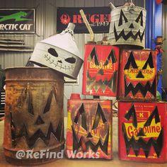 Halloween gas can jack'o'lantern metal art- ReFind Works/Brian Quail Halloween 2016, Halloween Pictures, Halloween Projects, Holidays Halloween, Halloween Pumpkins, Halloween Crafts, Happy Halloween, Halloween Decorations, Halloween Stuff
