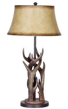 Triple Antler Lamp W/Shade