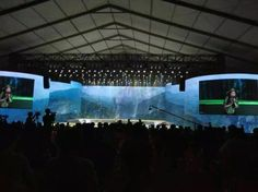outdoor concert - anniversary celebration -  Large tent - LED Screen - Stage