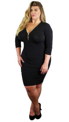 ccaa42ff0997a Plus Size Lil Goddess Dress (Black) 1x 2x 3x – Boughie Zipper, Goddess