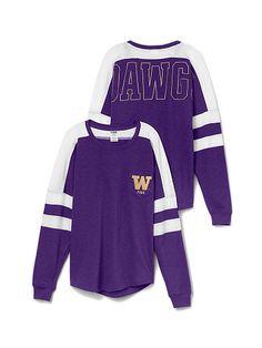University of Washington Varsity Pocket Crew PINK Louisiana State University, University Of Washington, Jersey Girl, College Outfits, College Goals, Hoodies, Sweatshirts, Adidas Jacket, Victoria Secret Pink