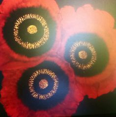 Red poppies Card by EmmaJLock on Etsy, £2.95