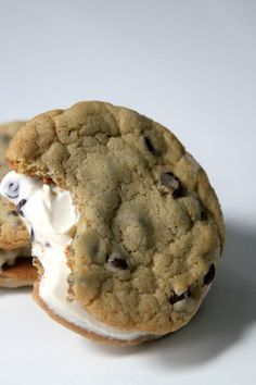 Chocolate Chip Ice Cream Sandwiches & A Cookies and Cream Giveaway! | Baker by Nature