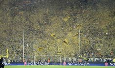 """Much similar to the Old Spion Kop, Dortmund's """"Yellow Wall"""" or the Sud Tribune in their Westfalentadion has gained something of a reputation over the past couple of years as too has their young talented team with 25,000 Passionate Prussians cheering them on"""