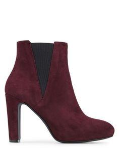 Toutes les chaussures en CHEVRE VELOURS Bordo - Noir - Boots - Briana - Minelli