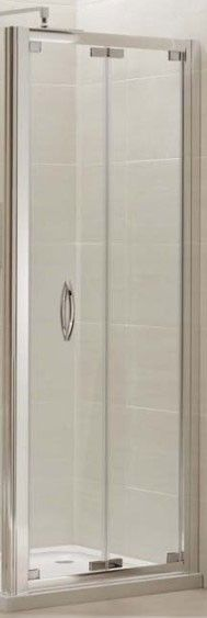 Cooke & Lewis cascata bi-fold shower door and square ultra low ...