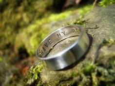 """i would love  to get an avett brothers song lyric inside sean's ring - """"always remember there was nothing worth sharing like the love that let us share our name"""" or something of that nature!  :)"""