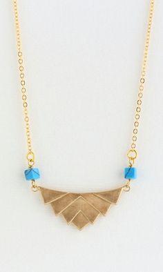 Geometric Necklace Brass Triangular Necklace