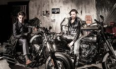"""Bikers with Style"" Editorial Fashion Story. First Luxe Magazine / Photographer: Jacques Beneich / Models: Louis Mazières & Valentin d'Hoore / Stylist: Marie Revelut / Make-Up & Hair: Anne Arnold / Making-Of Video: Juliette Beneich / https://www.youtube.com/watch?v=7WEj4gpjKs8 / Responsable Prod & Décor: Virginia Valère / Assistants: Flora & Nico / Studio: La Plateform / Thanks to: Harley-Davidson / ATS Etoile / Jean-Charles Geneste / Guillaume Tanner / Véronique Gaillard / Marc /"