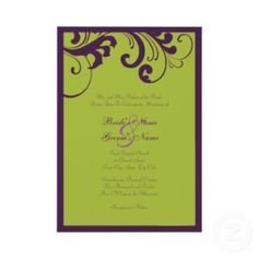 Purple And Green Wedding ideas for my friend Maria! She would love this!