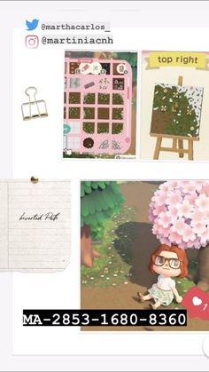 Animal Crossing Qr, Pink Flowers, Paths, Custom Design, Coding, Frame, Animals, Twitter, Boys