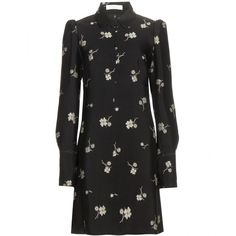 Chloé Silk-Blend Jacquard Dress (2,990 CAD) ❤ liked on Polyvore featuring dresses, black, black dress, jacquard dress, black jacquard dress, chloe dress und kohl dresses