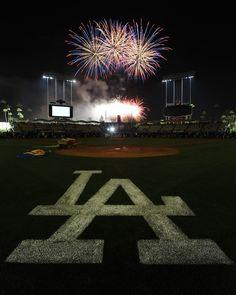 Friday Night Fireworks at Dodger Stadium.