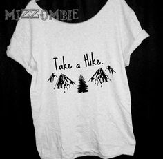 HIKING  MOUNTAINS shirt  Off The Shoulder,   graphic tee, mizzombie grunge bohemian FREE shipping by Mizzombie on Etsy https://www.etsy.com/listing/219978280/hiking-mountains-shirt-off-the-shoulder