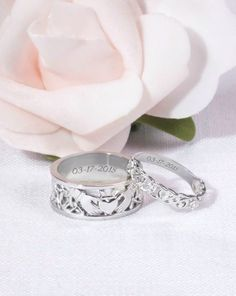 Chic joias Women Mens Band Rings 925 Sterling Silver Cubic Zirconia Band Rings 18K White Gold Plated CZ Rings for Lover Wife Husband Father Lovers Mother Boys Girls Friends Gift