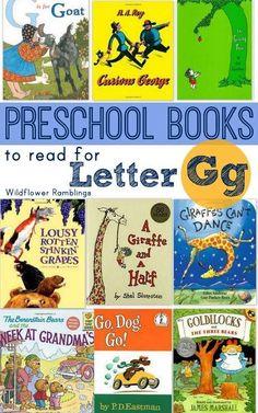 preschool children's books for the letter g from wildflower ramblings