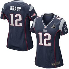 6fd824aa4 Women s New England Patriots Tom Brady Nike Navy Blue Super Bowl XLIX Bound  Game Jersey New