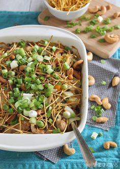 Garlic cashew chicken casserole