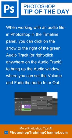 When working with an audio file in Photoshop in the Timeline panel, you can…