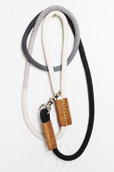 Dog I Y: Modern DIY Rope Dog Leash in collars leads