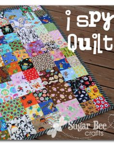 this keeps the kids busy forever - perfect for the sidelines! i spy quilt