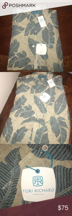 Tori Richard Men's Aloha Shirt M ~BRAND NEW TORI RICHARD MENS ALOHA SHIRT~ Size: Medium Color: Driftwood High-quality shirt perfect for Business or Leisure. Whether you're closing a deal, or a beautiful wedding with family and friends, this shirt is great for both! Never worn, tags still on. Price listed, OBO. Would make a thoughtful gift as well! TORI RICHARD Shirts Dress Shirts