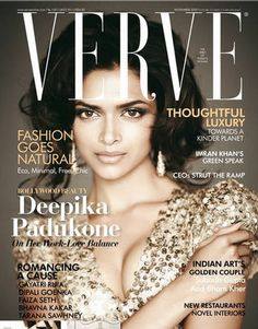 Deepika Padukone. Verve India. Bollywood. Actresses.