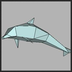 Animal Paper Model - Dolphin Free Template Download - http://www.papercraftsquare.com/animal-paper-model-dolphin-free-template-download.html