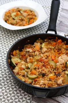 Blé au poulet et légumes du soleil - 5SP/pers. Weight Watchers