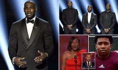 LeBron James and Steph Curry give 'Black Lives Matter' speeches at ESPY | Daily Mail Online