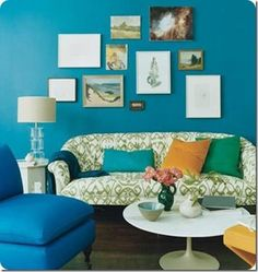 abode love: a man's home is his wife's castle: teal + green goodness