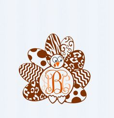 Turkey Monogram Frame SVG,EPS Png DXF, studio files for Cricut, Silhouette…