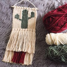 Add a little boho to your walls with a custom cactus weaving!