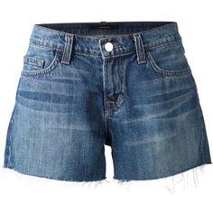 J Brand raw cut denim shorts ($235) ❤ liked on Polyvore