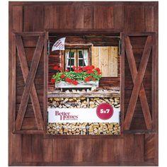 "Better Homes and Gardens 5"" x 7"" Barn Door Picture Frame - Walmart.com"