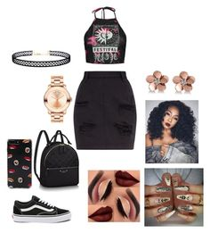 """Untitled #77"" by ashanticollins3 on Polyvore featuring Boohoo, Vans, Forever 21, Allurez, Movado and LULUS"