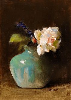 Bouquets of American artist Jacqueline Kamin Paintings