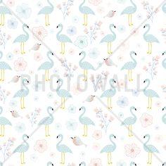 Flamingos Turquoise - Fototapeter & Tapeter - Photowall