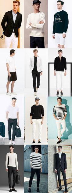 Colour Combinations To-Go for 2015 Spring/Summer: Black & White Lookbook Inspiration