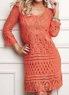 Fabulous Crochet a Little Black Crochet Dress Ideas. Georgeous Crochet a Little Black Crochet Dress Ideas. Gilet Crochet, Crochet Yarn, Crochet Top, Easy Crochet, Crochet Stitches, Crochet Jumper, Ravelry Crochet, Crochet Granny, Crochet Skirts