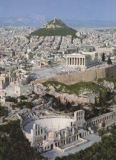 GRECIA Herodes Atticus Theater, The Parthenon and Lycabettus Hill ~ This is Athens Places Around The World, Oh The Places You'll Go, Places To Travel, Places To Visit, Travel Local, Travel Destinations, Greece Destinations, Greek Cruise, Wonderful Places