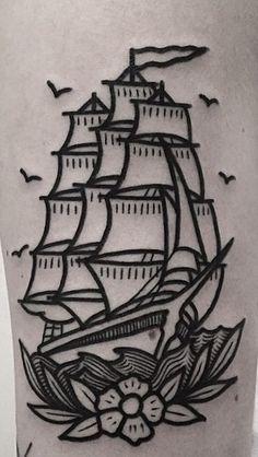 33 Ideas Tattoo Traditional Ship Old School tattoo old school 33 Ideas T. - 33 Ideas Tattoo Traditional Ship Old School tattoo old school 33 Ideas Tattoo Traditional S - Traditional Ship Tattoo, Traditional Tattoo Old School, Geometric Traditional Tattoo, Traditional Tattoo Drawings, Trendy Tattoos, Tattoos For Guys, Cool Tattoos, Arrow Tattoos, Tattoo Magazin