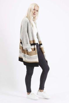 Block Stripe Cardigan - Knitwear - Clothing - Topshop