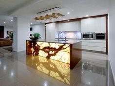 10 Benefits Of Having Stone Cladding At Home: stone cladding onix Kitchen Room Design, Luxury Kitchen Design, Home Decor Kitchen, Kitchen Interior, Kitchen Wall Panels, Kitchen Walls, Küchen Design, Interior Design, Stone Cladding