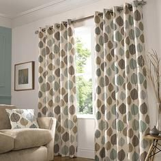Living Room Eyelet top Duck Egg Regan lined curtains depending on drop Lounge Curtains, Curtains Dunelm, Net Curtains, Pleated Curtains, Bedroom Curtains, Ready Made Eyelet Curtains, Blackout Eyelet Curtains, Living Room 2017, Living Room Interior