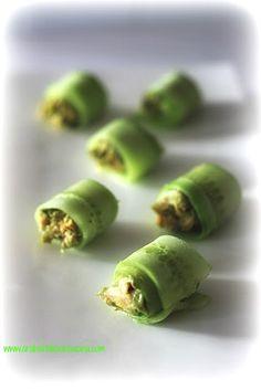 rotolini velocissimi di avocado salmone e cetriolo